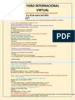 Program Foro Internacional Virtual 9 Y 10 DE NERO 2020