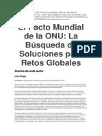 EL PAPEL DEL PACTO MUNDIAL DE LA ONU 10 principios del Pacto Mundial