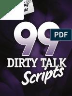 99 Dirty Talk Scripts