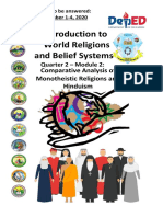 December 2020 Module SHS World Religions 12