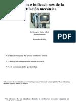 Objetivos e indicaciones de la ventilación mecánica CJMT