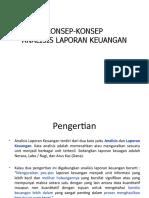 Konsep Analisis Laporan Keuangan