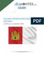 Examen oposiciones geografía e historia Castilla la Mancha 2018