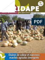Agridape n29-2 - Chaines de Valeur Et Nouveaux Marches Agricoles Emergents