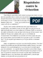 Réquisitoire contre la vivisection