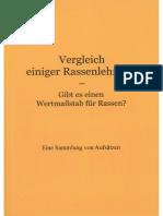 Köpke, Matthias - Vergleich einiger Rassenlehren, 2. Auflage