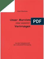 Köpke, Matthias - Unser Marxismus - eine unserer Verirrungen, 1. Auflage