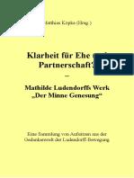 """Köpke, Matthias - Klarheit für Ehe und Partnerschaft? Mathilde Ludendorffs Werk """"Der Minne Genesung"""""""