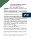Fundamentals Of Faith And Fellowship