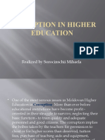 Corruption in Higher Education