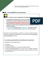 5ème-Grammaire-les-compléments-circonstanciels-leçon-et-exercices