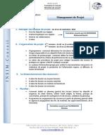 Fiche technique  Management de projets