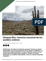 Ruta andina-Qhapaq Ñan_ Memoria ancestral de los pueblos andinos _ Ministerio de Cultura
