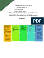 EXAMEN PARCIAL III - TÉCNICAS DE RESOLUCION DE CONFLICTOS