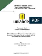 05-Efecto del agua perdida sobre la decisión de compra de tuberia con criterio de costo minimo