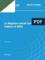 Le Registre social unique Enjeux et défis (Aout 2020)