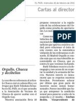 AVChueca Carta al Director (edición impresa)