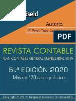 REVISTA CONTABLE PCGE 2019  5°  EDICION 2020