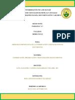 TALLER 1 ROSA QUIROZ CONSERVACIÓN  Y RESTAURACIÓN DE DOCUMENTOS