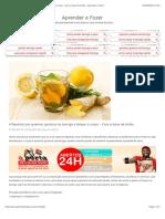 4 Receitas pra queimar gordura na barriga e limpar o corpo – Com a base de limão – Aprender e Fazer