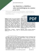 Materialismo histórico e dialético - possibilidades metodológicas no ensino