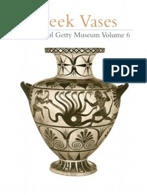 Greek Vases Getty 2000 Pdf Lion