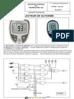 Devoir de Contrôle N°1 - Génie électrique LECTEUR DE GLYCEMIE - Bac Technique (2015-2016) Mr Lazhar KHELIL