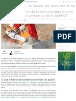 Quais os limites de tolerância para poeira mineral em ambiente de trabalho_ - Analytics Brasil