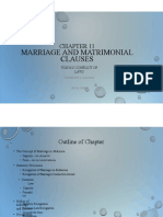 Chapter 11 - Marriage and Matrimonial Clauses