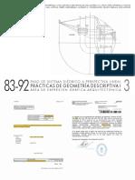 Practicas de Geometria Descriptiva I - Cuaderno N3 - CURSOS 83-92_RUC
