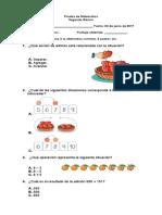 prueba de matematica segundo algoritmos