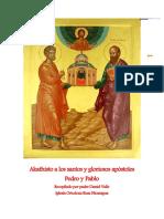Akathisto a los santos y gloriosos apóstoles Pedro y