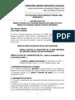 Modelo Solicitud Deducción Impuesto Predial Para Pensionista - Autor José María Pacori Cari