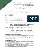 Modelo Solicitud Deducción Impuesto Predial Para Adulto Mayor - Autor José María Pacori Cari