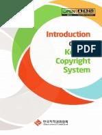 [한국저작권위원회] 저작권관계자료 2015-09 Introduction of the Korean Copyright System