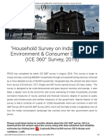 Upcoming survey ICE360o 2016 – People Research on India's Consumer Economy