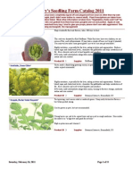 Zachary's Seedling Catalog for 2011