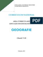 Curriculum Geografie Gimnaziu 6