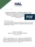 Intelligence financière et statistique2018