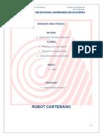 Robot cartesiano  con 3 grados de libertad