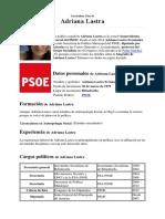 Curriculum Adriana Lastra