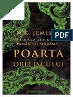 N. K. Jemisin - Pământul Sfărâmat - V2 Poarta obeliscului 1.0 ˙{SF}