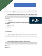 activity sheet pr