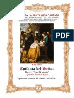 6 de enero. Epifanía Del Señor. Guía de los fieles para la santa misa cantada. Kyrial Fons Bonitatis y Angelis