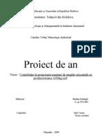 titlul si cuprinsul la proiect