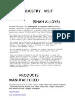 INDUSTRY   VISIT   REPORT 2003 document