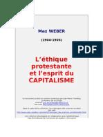 Weber - L'éthique protestante et l'esprit du capitalisme