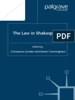 [Constance Jordan, Karen Cunningham] The Law in Shakespeare (Early Modern Literature in History, 2007)