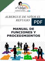 MANUAL DE FUNCIONES Y  PROCEDIMIENTO