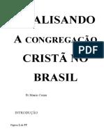 ANALISANDO A CONGREGAÇÃO CRISTÃ NO BRASIL